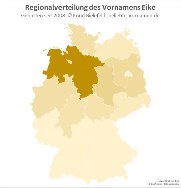 In Niedersachsen ist der Name Eike besonders beliebt.