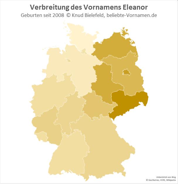 In Sachsen ist der Name Eleanor besonders beliebt.