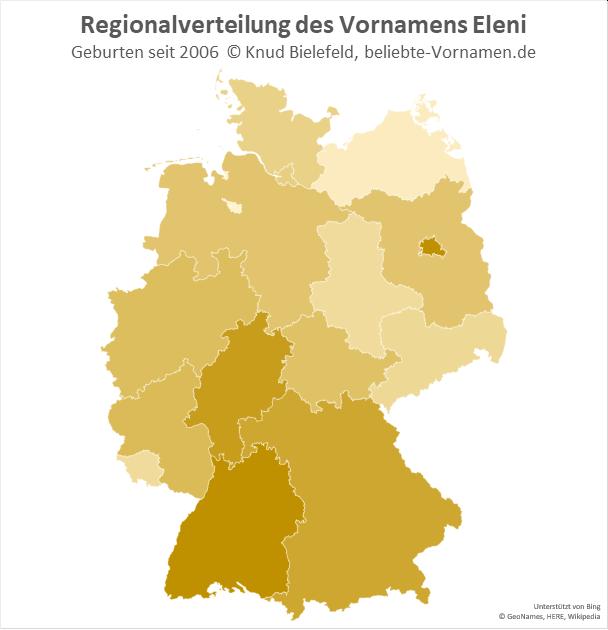 In Berlin und Baden-Württemberg ist der Name Eleni besonders beliebt.