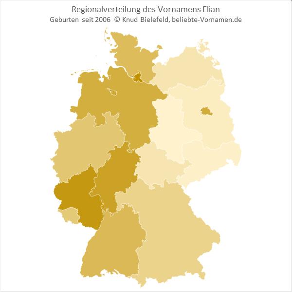 In Rheinland-Pfalz ist der Name Elian besonders beliebt.