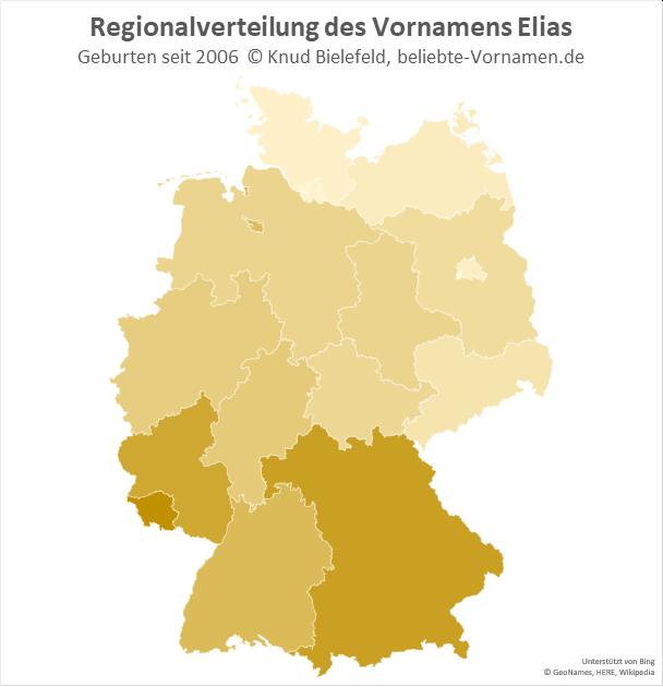 Im Saarland ist der Name Elias besonders beliebt.