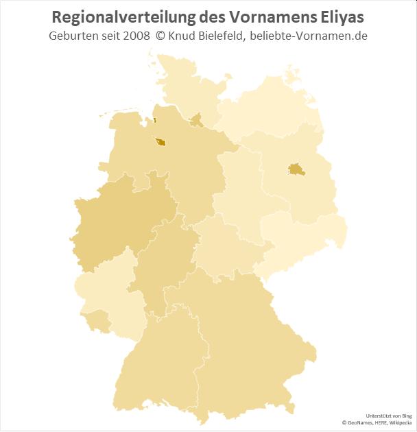 Am beliebtesten ist der Name Eliyas in Bremen.