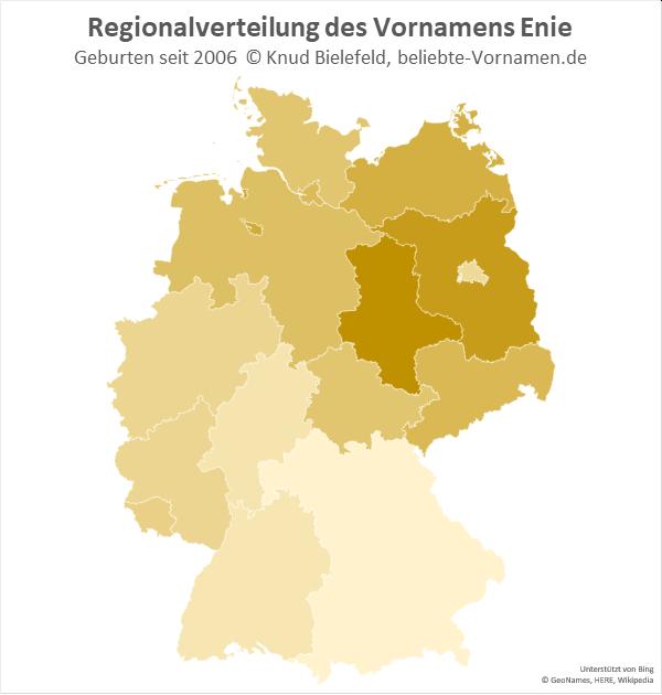 In Sachsen-Anhalt ist der Name Enie besonders beliebt.