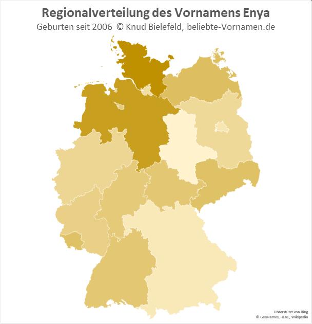 In Schleswig-Holstein ist der Name Enya besonders beliebt.