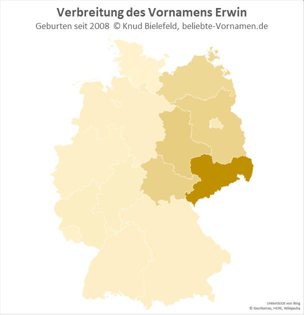 Besonders beliebt ist der Name Erwin in Sachsen.