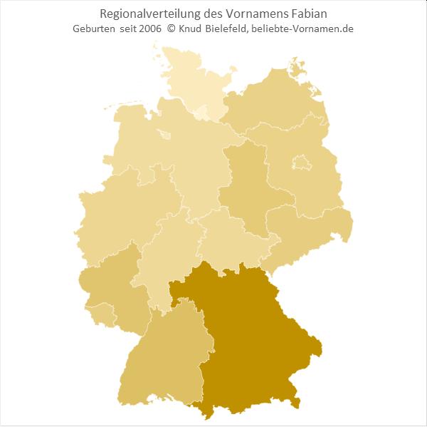 In Bayern ist der Name Fabian besonders beliebt.