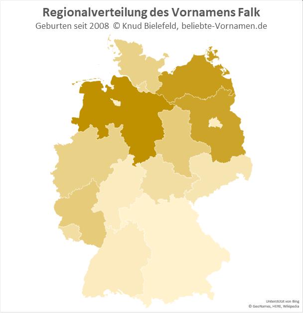 In Niedersachsen ist der Name Falk besonders beliebt.