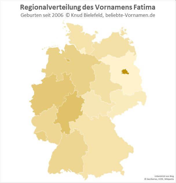 Am beliebtesten ist der Name Fatima in Berlin.
