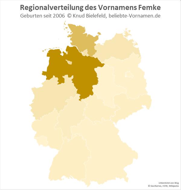 In Niedersachsen ist der Name Femke besonders beliebt.
