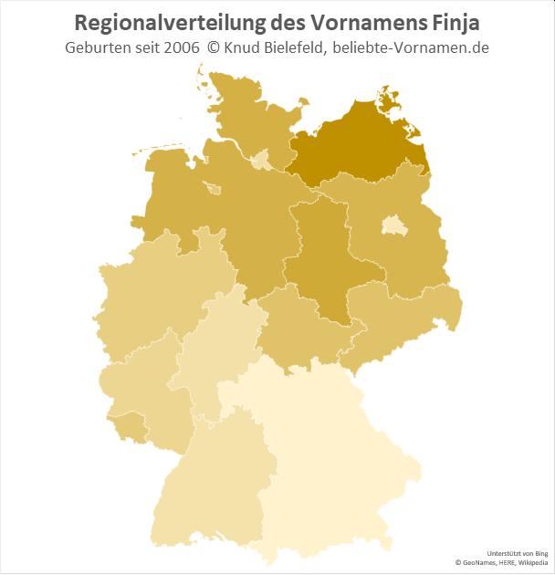 Der Name Finja ist in Norddeutschland besonders beliebt.