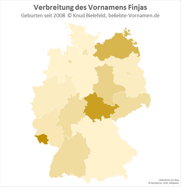 Im Saarland und in Thüringen ist der Name Finjas besonders beliebt.