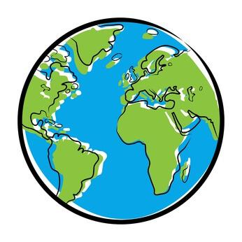 Farbige Zeichnung Globus © snyGGG - fotolia.com