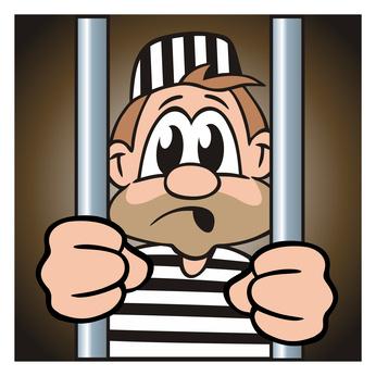 Sträfling im Gefängnis © jokatoons - Fotolia.com