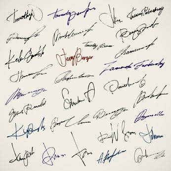 Unterschriften © Banana Republic - Fotolia.com