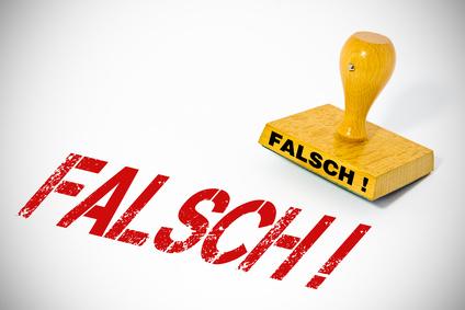 Stempel - Falsch © motorradcbr - Fotolia.com
