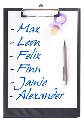 Jungsnamen auf einem Klemmbrett © PhotographyByMK - Fotolia.com