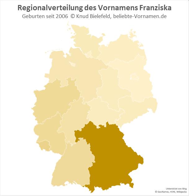 In Bayern ist der Name Franziska besonders populär.