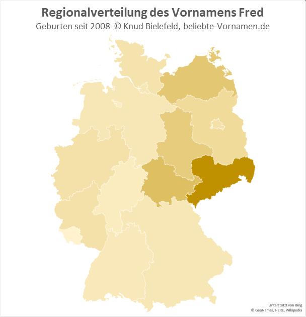 In Sachsen ist der Name Fred besonders beliebt.