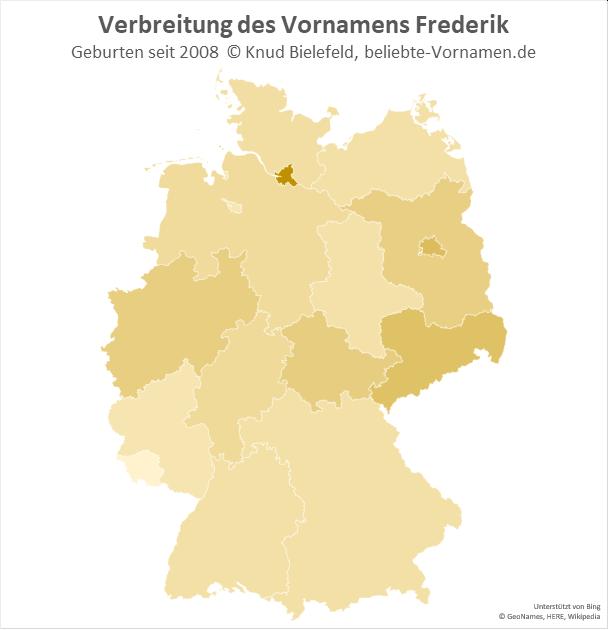 In Hamburg ist der Name Frederik besonders beliebt.