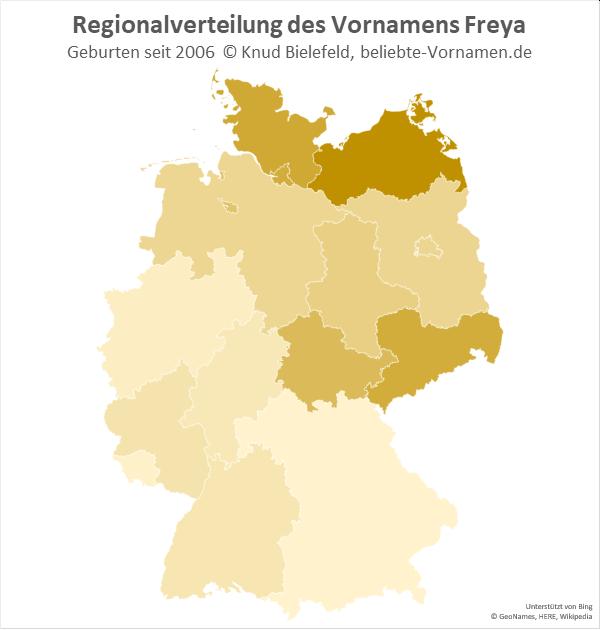 In Mecklenburg-Vorpommern ist der Name Freya besonders beliebt.