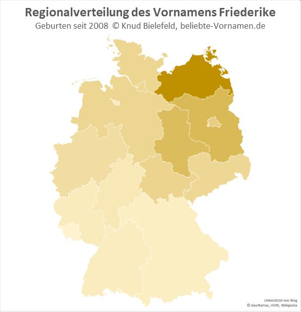 In Mecklenburg-Vorpommern ist der Name Friederike besonders beliebt.