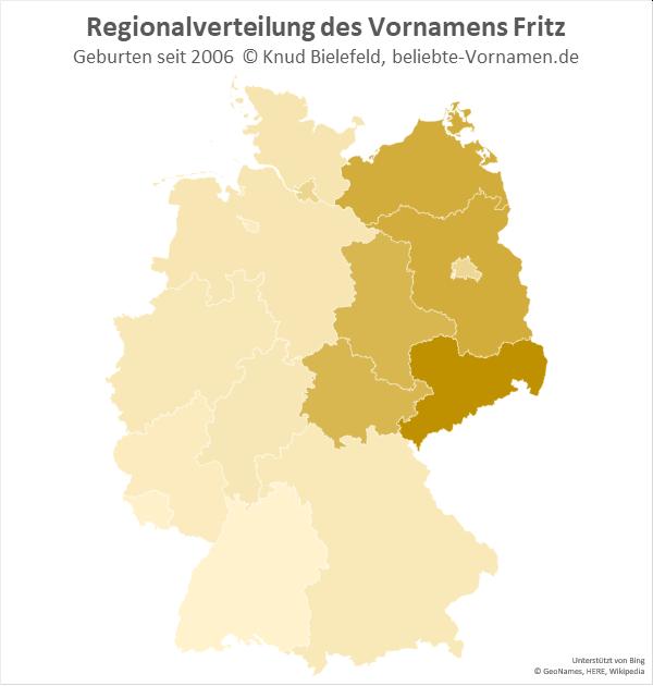 In Sachsen ist der Name Fritz besonders beliebt.