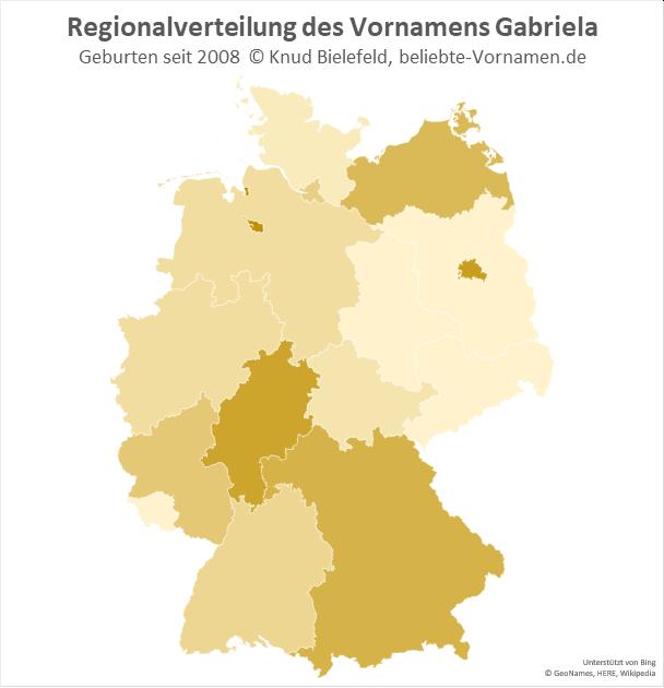 Am beliebtesten ist der Name Gabriela in Berlin und in Bremen.