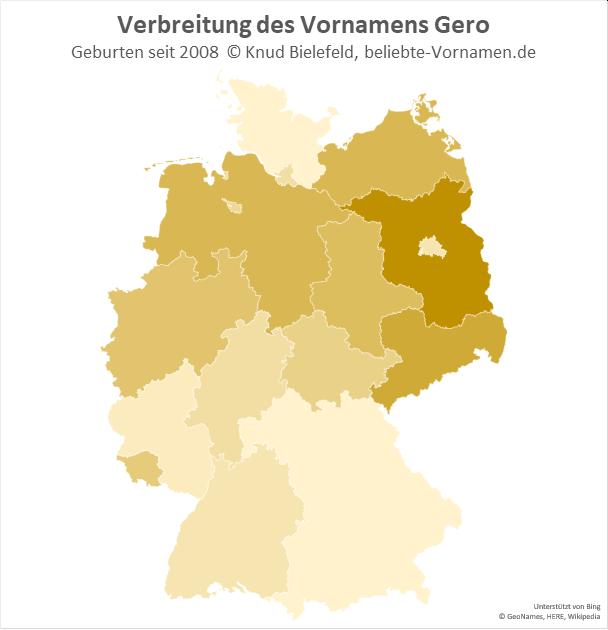 Am beliebtesten ist der Name Gero in Brandenburg.
