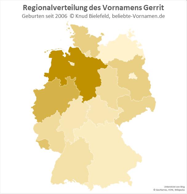 In Niedersachsen ist der Name Gerrit besonders beliebt.