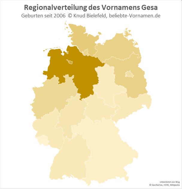 In Niedersachsen ist der Name Gesa am beliebtesten.