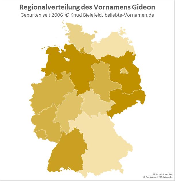 Der Name Gideon ist in vielen Regionen Deutschands beliebt.