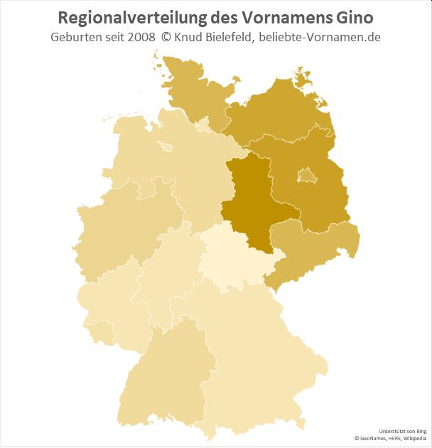 In Sachsen-Anhalt ist der Name Gino besonders beliebt.
