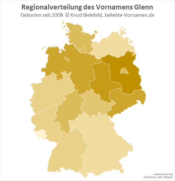 Am beliebtesten ist der Name Glenn in Brandenburg.