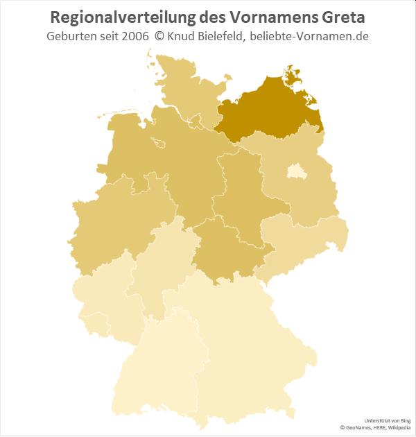 In Mecklenburg-Vorpommern ist der Name Greta besonders beliebt.