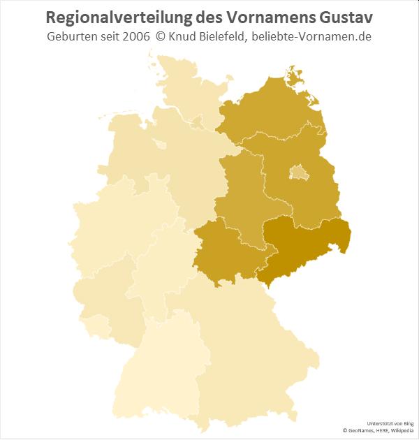 In Sachsen kommt der Name Gustav besonders häufig vor.