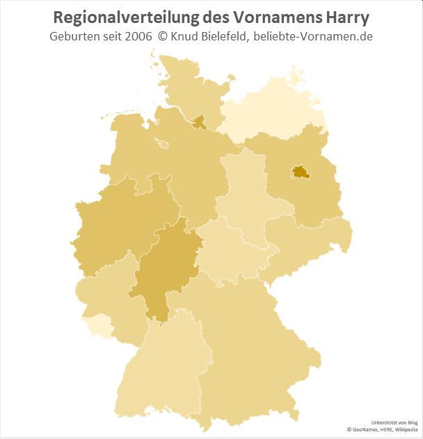 Am beliebtesten ist der Name Harry in Berlin.