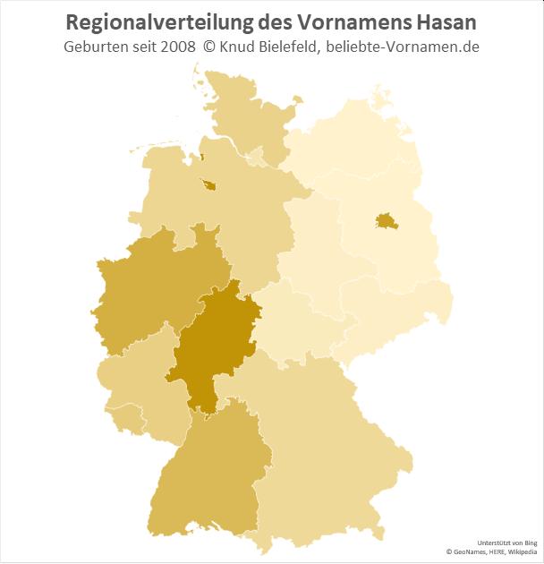 In Hessen ist der Name Hasan besonders beliebt.