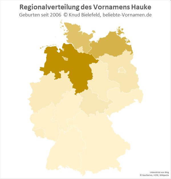 Am beliebtesten ist der Name Hauke in Niedersachsen.