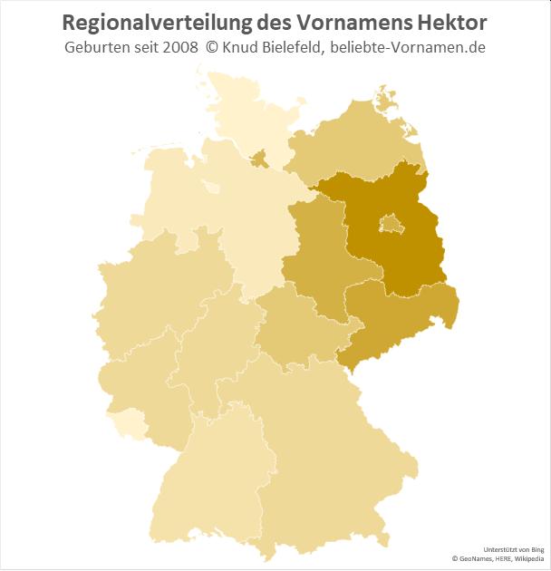 Besonders beliebt ist der Name Hektor in Brandenburg.