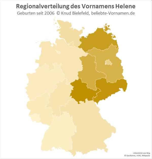 Am beliebtesten ist der Name Helene in Thüringen.