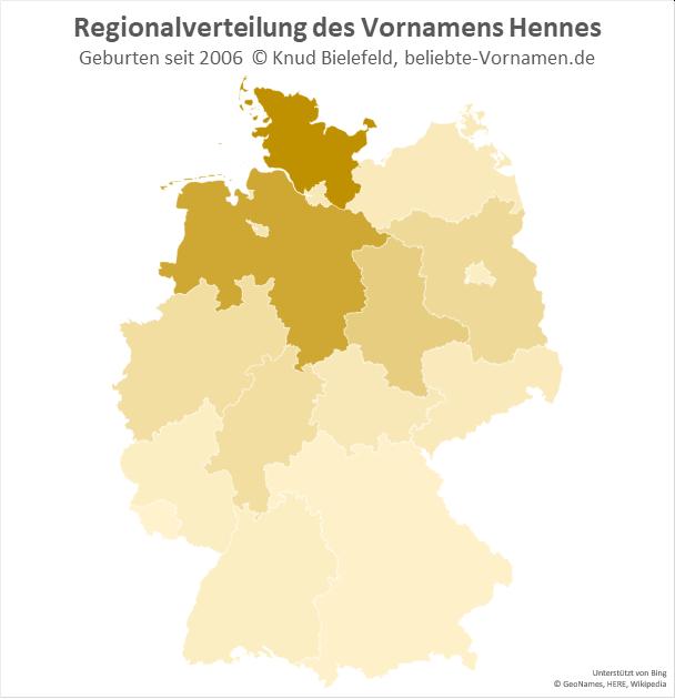 In Niedersachsen und Schleswig-Holstein ist der Name Hennes besonders populär.