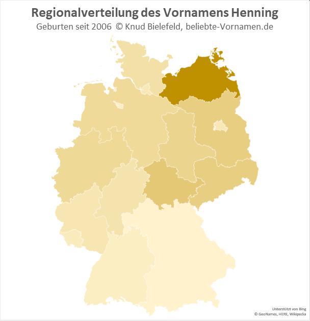 Besonders beliebt ist der Name Henning in Mecklenburg-Vorpommern.