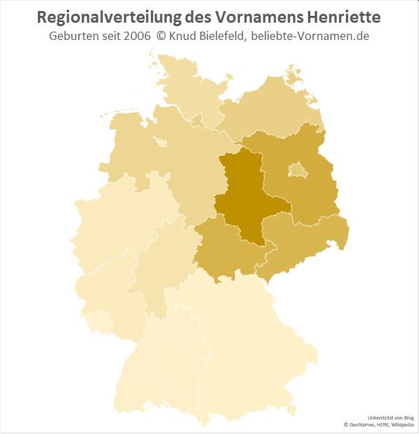 In Sachsen-Anhalt ist der Name Henriette besonders beliebt.