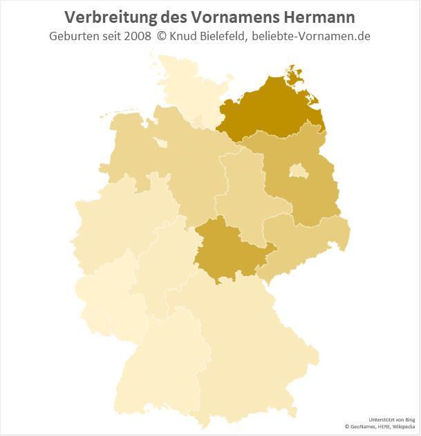 In Mecklenburg-Vorpommern ist der Name Hermann besonders beliebt.