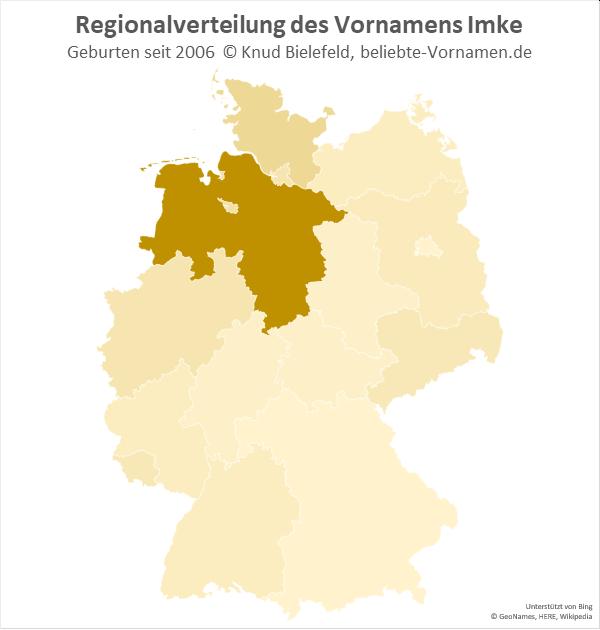 In Niedersachsen ist der Name Imke besonders beliebt.