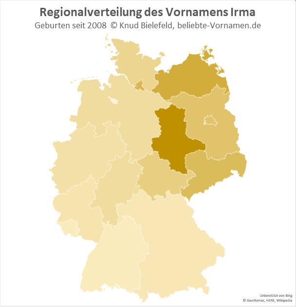 In Sachsen-Anhalt ist der Name Irma besonders beliebt.