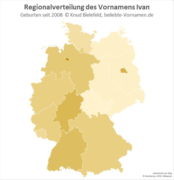 Am beliebtesten ist der Name Ivan in Bremen.