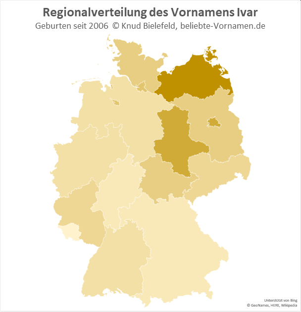 In Mecklenburg-Vorpommern ist der Name Ivar besonders beliebt.