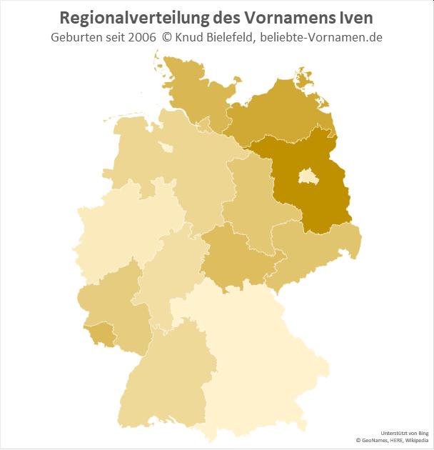 In Brandenburg ist der Name Iven besonders beliebt.