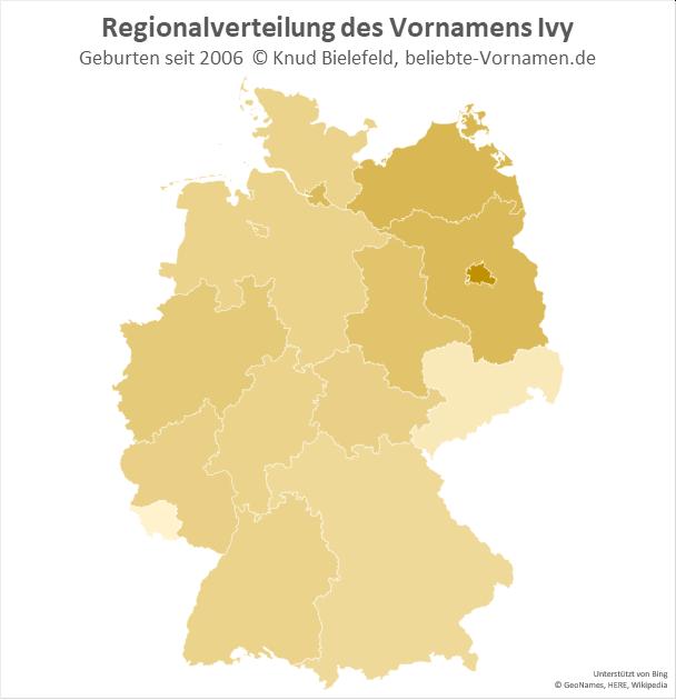 In Berlin ist der Name Ivy besonders beliebt.